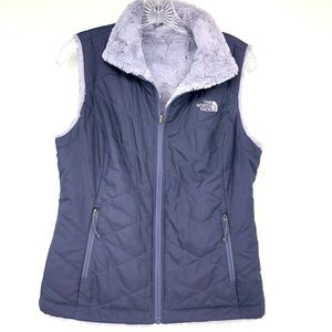 North Face Mossbud Purple Reversible Vest Small